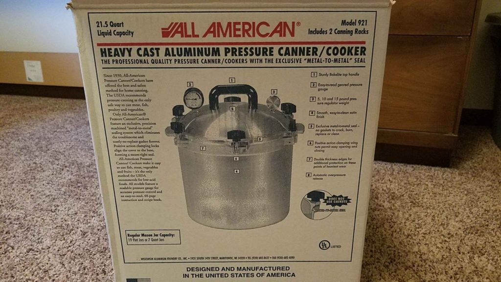 all american 921 pressure canner packaging
